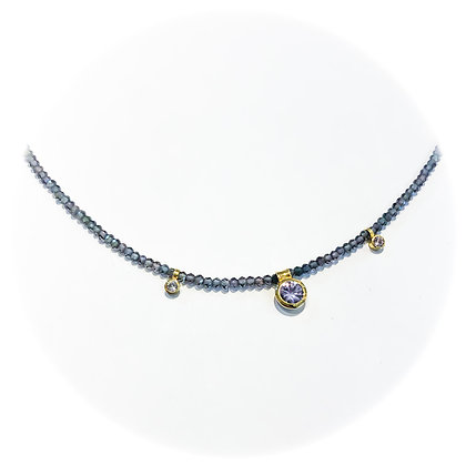 Lilac Sapphire and Spinel Necklace
