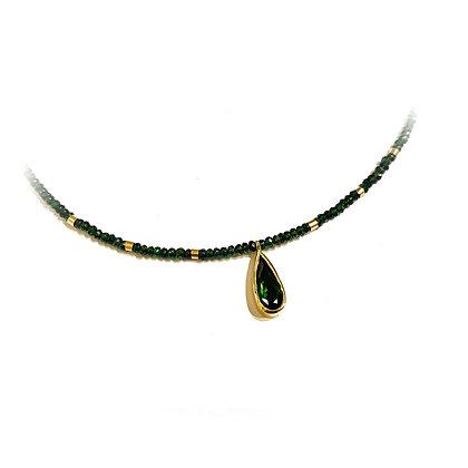 Dark Green Tourmaline Necklace