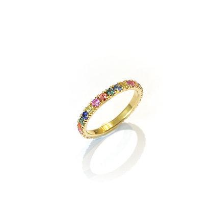 Multicolour Sapphire Ring