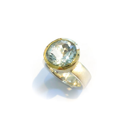 White Topaz Cocktail Ring