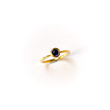 Blue Sapphire Stacking Ring (Gold)