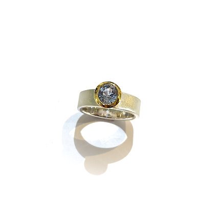 Lilac/ Grey Sapphire Ring