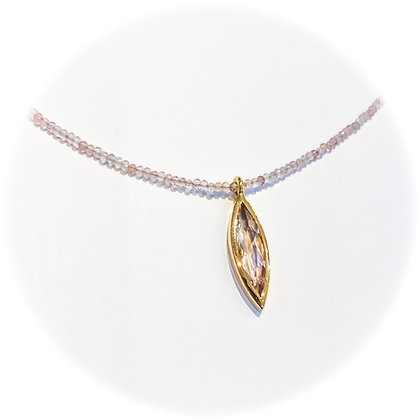 Marquise Morganite Necklace
