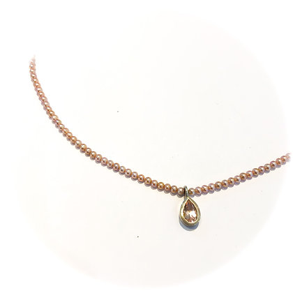 Morganite and Pearl Necklaces
