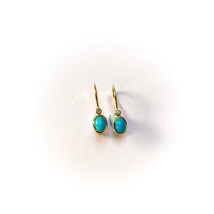 Turquoise and Diamond Drops