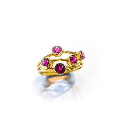Ruby Multiband Ring