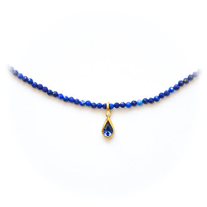 Sapphire and Lapis Lazuli Necklace