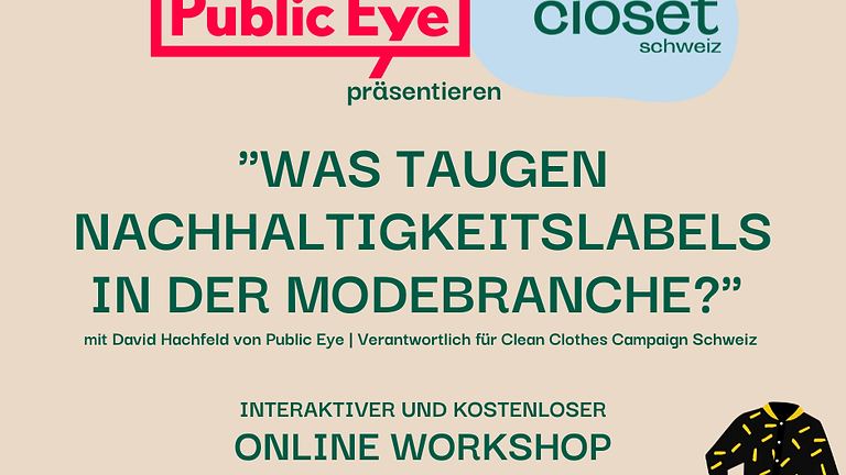 Online-Workshop mit Public Eye