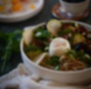 tagliatelles de riz aux shitakés