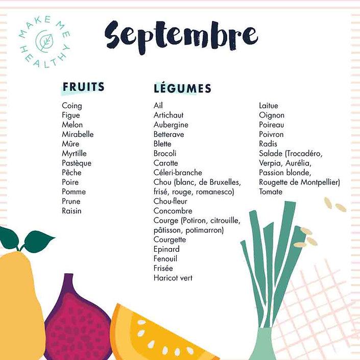calendrier fruits légumes septembre