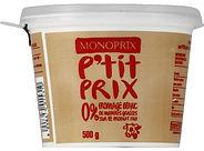 fromage blanc 0% monoprix