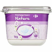 fromage balnc nature carrefour