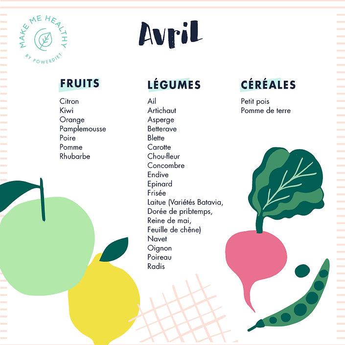 calendrier fruits légumes avril