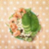 recette salade aux crevettes, avocat et vinaigrette sans huile