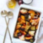 recette légumes rôtis au four et yaourt citronné