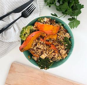 recette bowl healthy potiron brocoli et quinoa