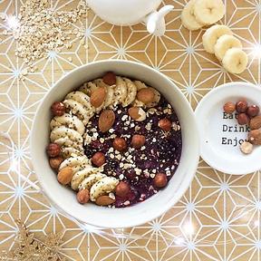 recette porridge banane et fruits rouges