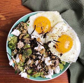 recette coquillettes brocoli champignon chèvre