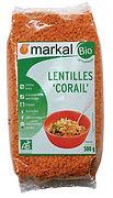 lentilles corail bio markal