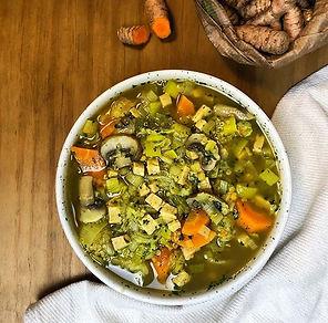 recette soupe aux légumes et quinoa