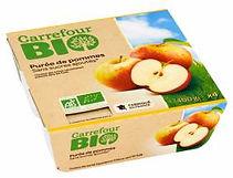 compotes de pommes bio carrefour