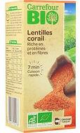lentilles corail bio carrefour