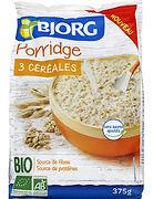 porridge 3 céréales bio bjorg