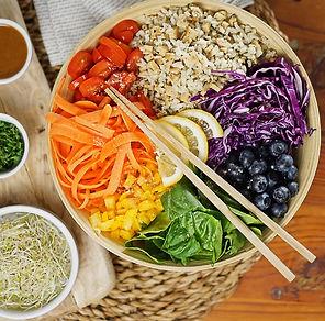 recette rainbow bowl healthy
