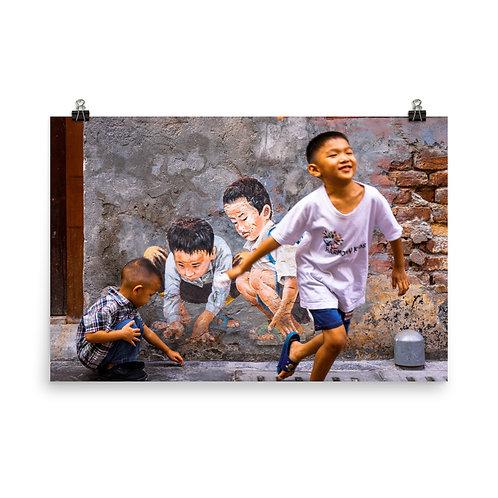 Running Boy Poster