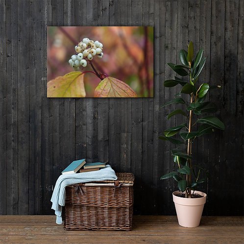 Bokeh Berries Canvas