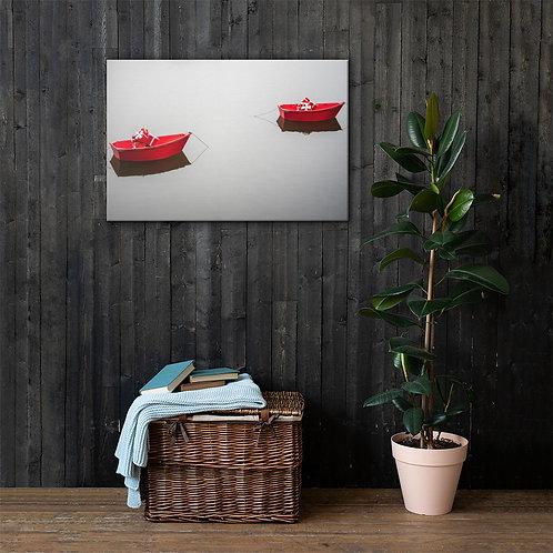 Bateaux Rouges Canvas