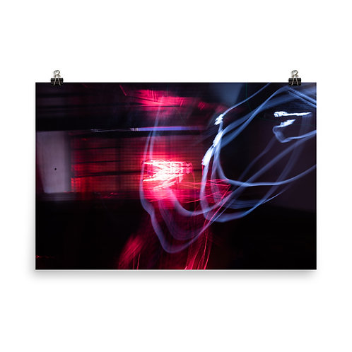 Neon Blaze Poster