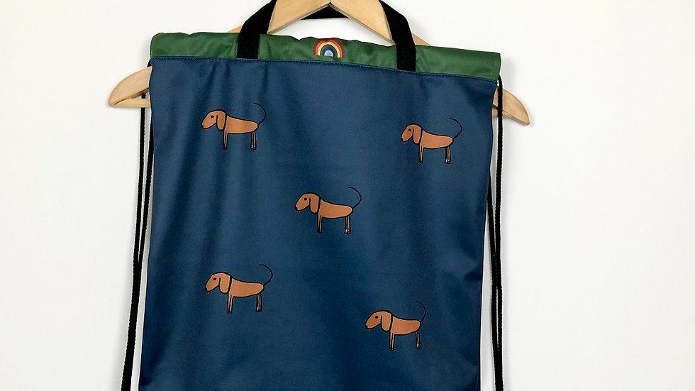 Beutel mit Hunde-Print