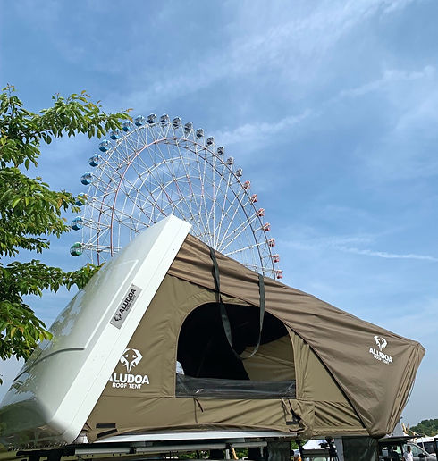 aludoaルーフテント
