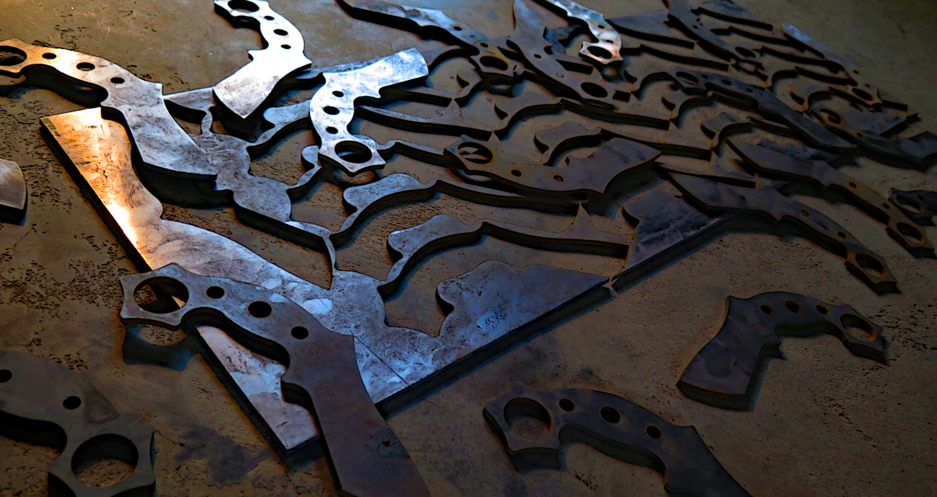 Mandrill blanks from the waterjet.