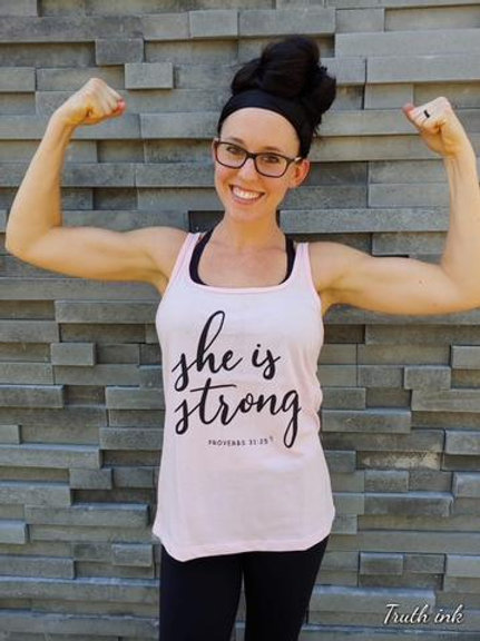 She is Strong Tank