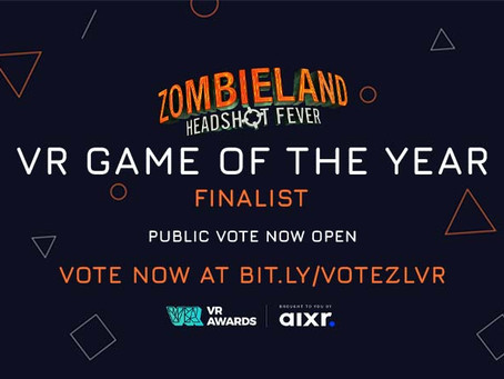 Vote for Zombieland as VR Game of the Year at the VR Awards!