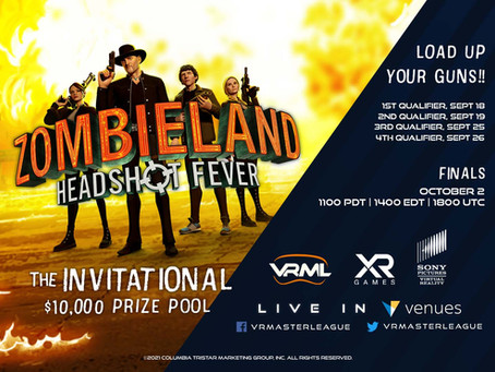The Zombieland Invitational - our first esports event with VRML - live on 2nd October!