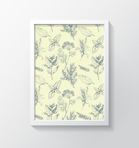 תמונה גדולה ממוסגרת | תמונה לעיצוב הבית | פרחים דגם A