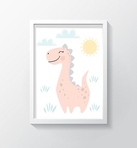תמונה גדולה ממוסגרת | תמונה לחדר ילדים | גיל הדינוזאורית