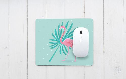פד מעוצב לעכבר | משטח לעכבר מחשב | דגם פלמינגו עלה טרופי