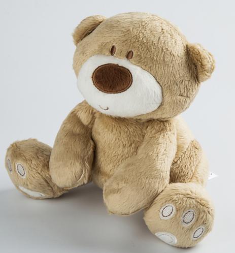 דובי רך חום בהיר | בובה לילדים | בובה לתינוק | מתנה לתינוק | מתנה ליולדת