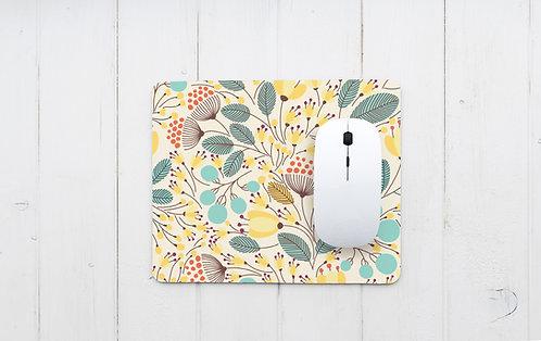 פד מעוצב לעכבר | משטח לעכבר מחשב | דגם פרחים וינטאג'