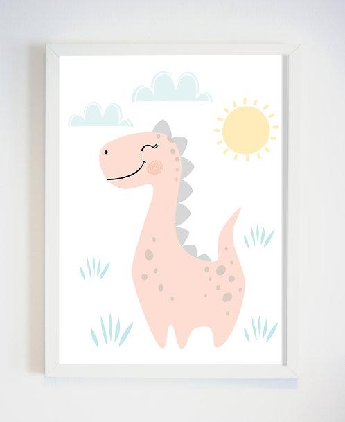 פוסטר לחדר ילדים | עיצוב חדר ילדים | גיל הדינוזאורית