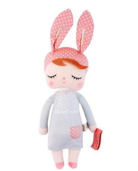 בובה לילדים | מתנה לילדה | מתנה ליולדת | בובת ילדה עם אוזני ארנב