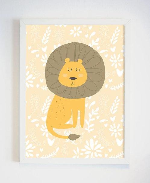 פוסטר לחדר ילדים | עיצוב חדר ילדים | אריה