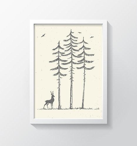 תמונה גדולה ממוסגרת   עיצוב הבית   עיצוב חדר עבודה   אייל ביער