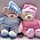 Thumbnail: בובת דובי רכה בצבע תכלת | בובה לתינוק | בובה | My Bedtime Bear