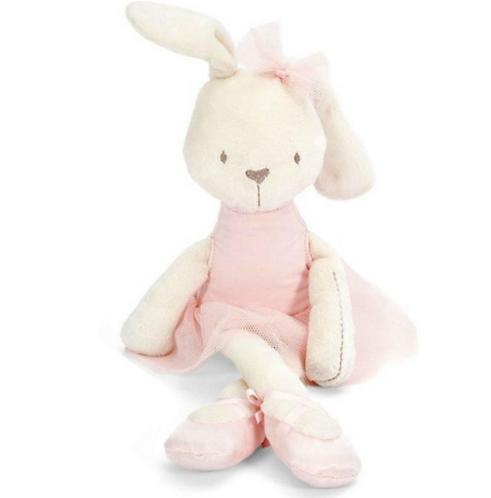 בובת כותנה לילדים   מתנה ליולדת   מתנה לתינוק   ארנבת בבגדי בלט