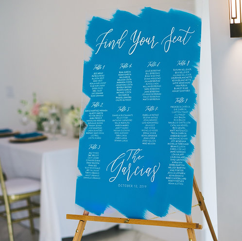Seating Chart with Last Name | Brushed Acrylic